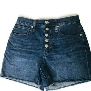 Madewell High Rise Button Fly Jean Shorts